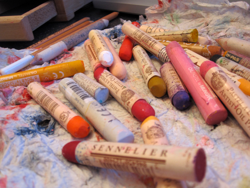 oil-pastels-mix